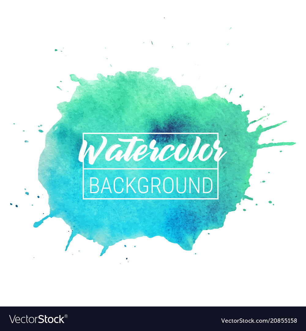 Watercolor blob text box background isolated
