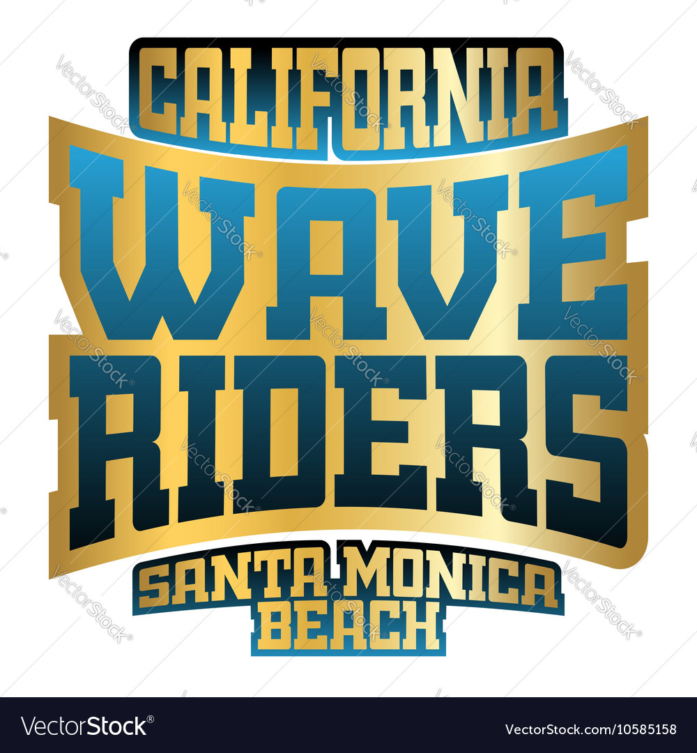 Wave riders typography