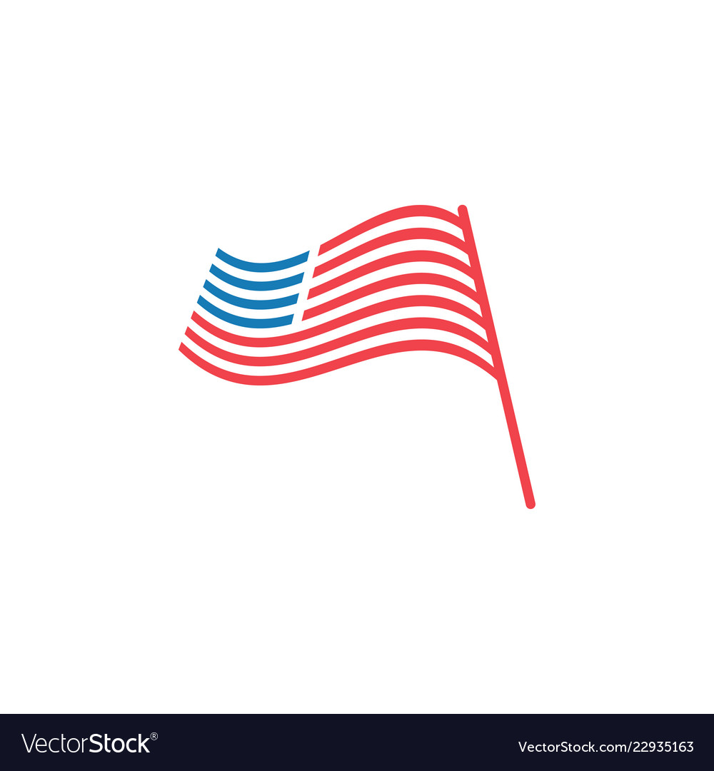 Abstract american flag graphic design template