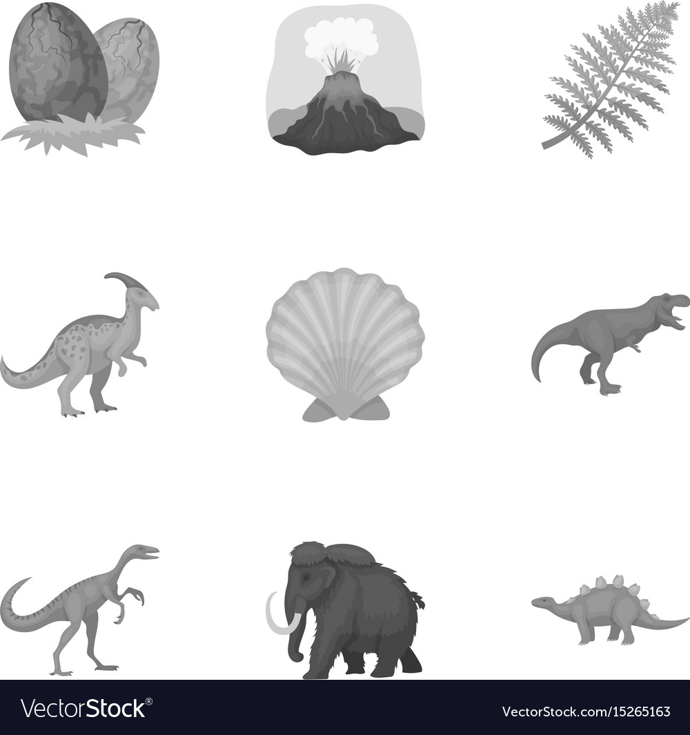 Image of: Fauna Vectorstock Ancient Extinct Animals And Their Tracks And Vector Image