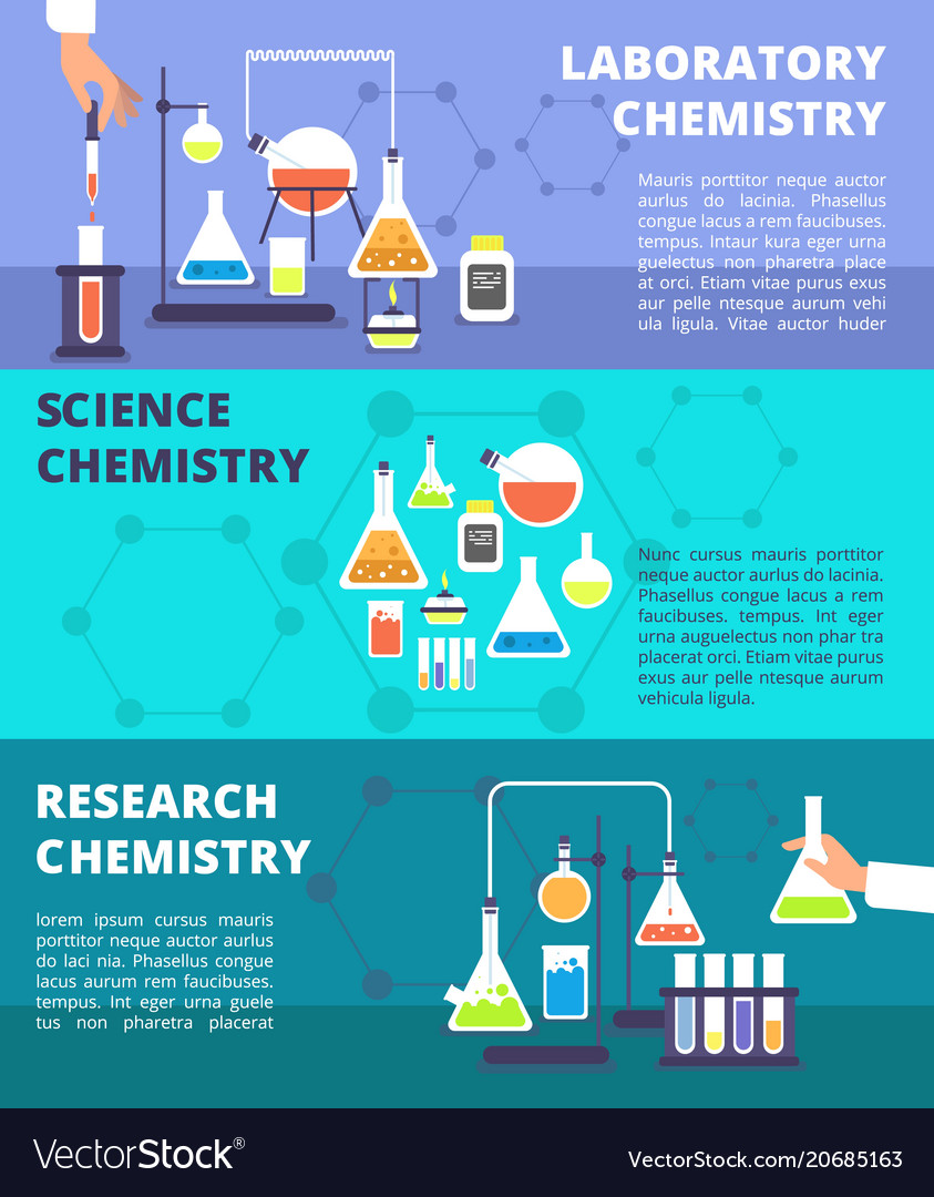 Chemistry laboratory research lab and science vector image
