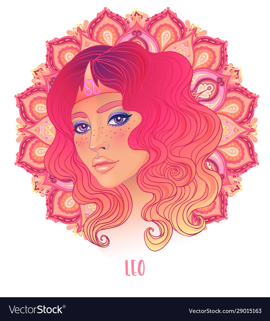 Drawing leo astrological sign as a beautiful
