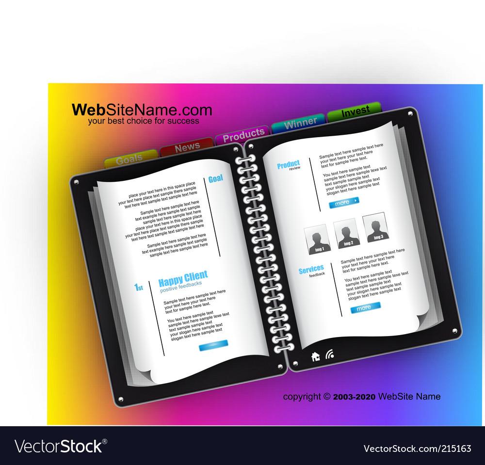 Futuristic website template