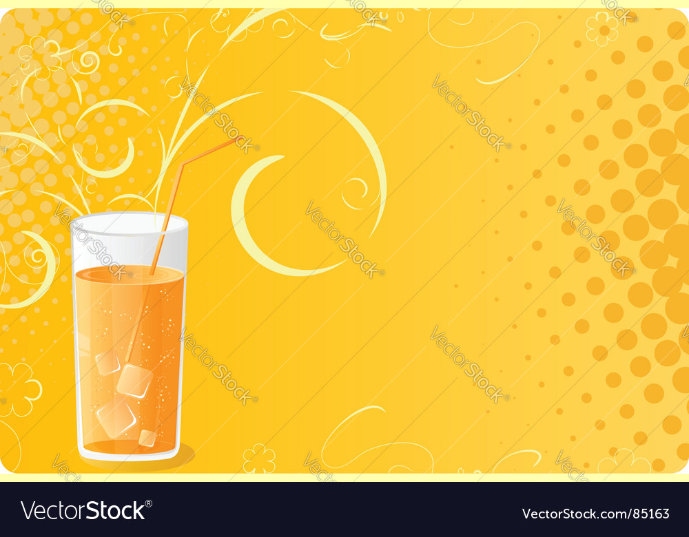 Halftone banner with juice glass vector image