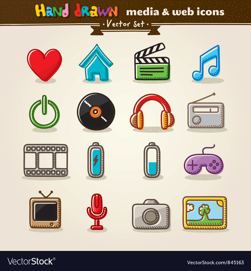 Media Entertainment Web Icons