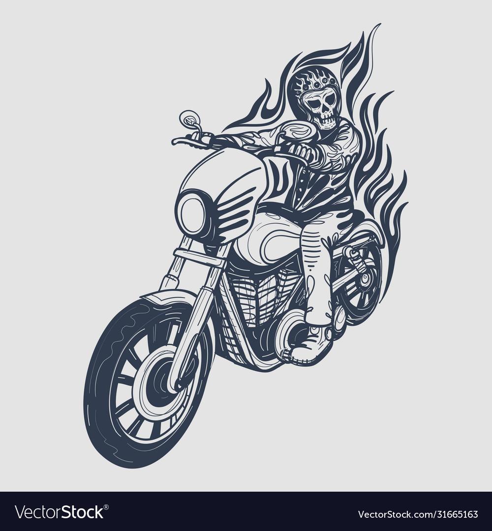 Skull biker logo design