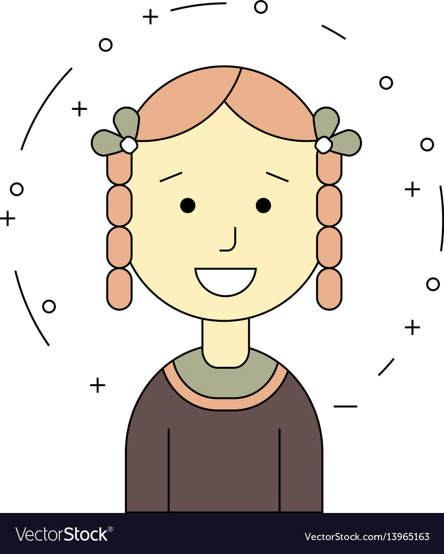 Smiling girl ethnic character vector image