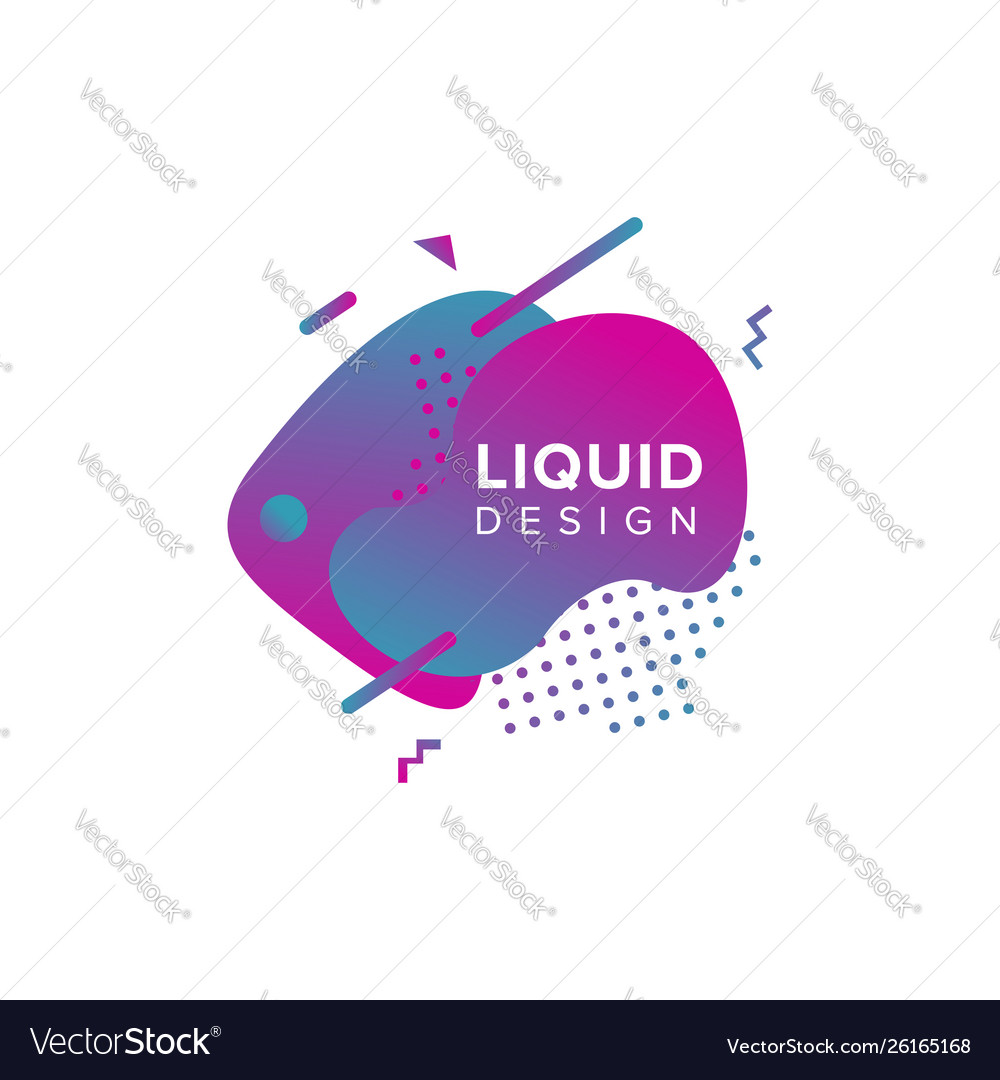 Color abstract liquid shape fluid color overlap