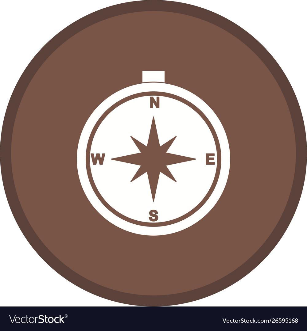 Compass glyph multi color background