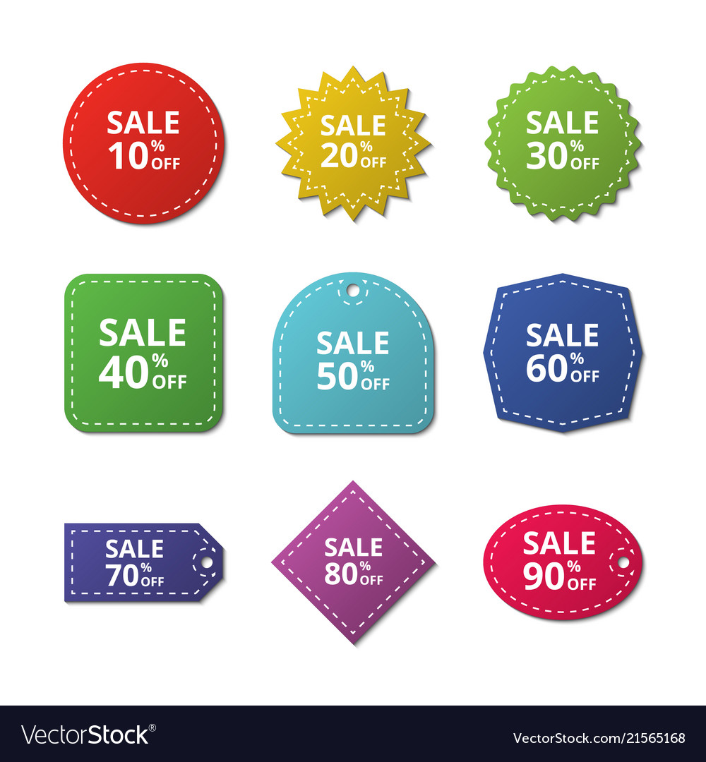 Discount stickers special price offer sale labels