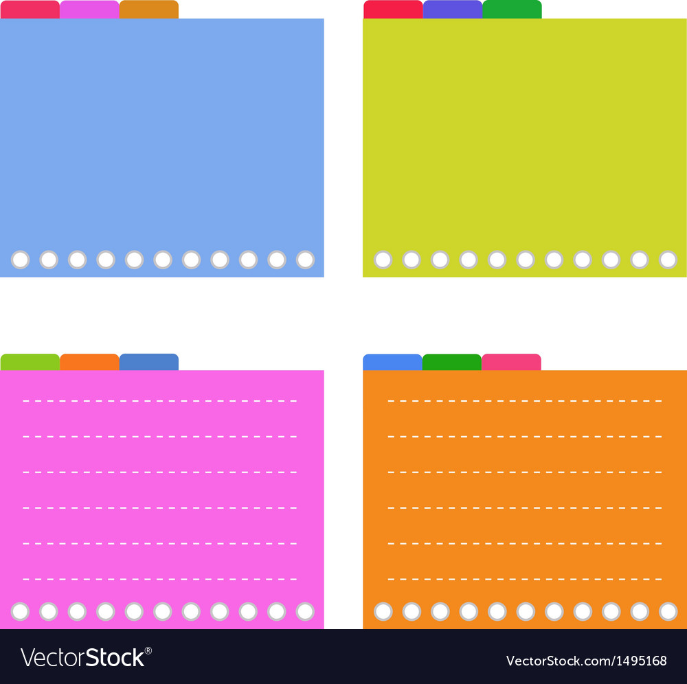 Four Colorful Lined Spiral Notepad Papers