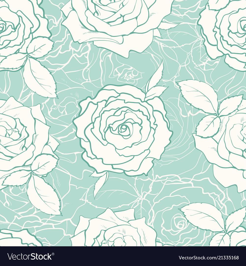 Hand drawn tulip seamless pattern