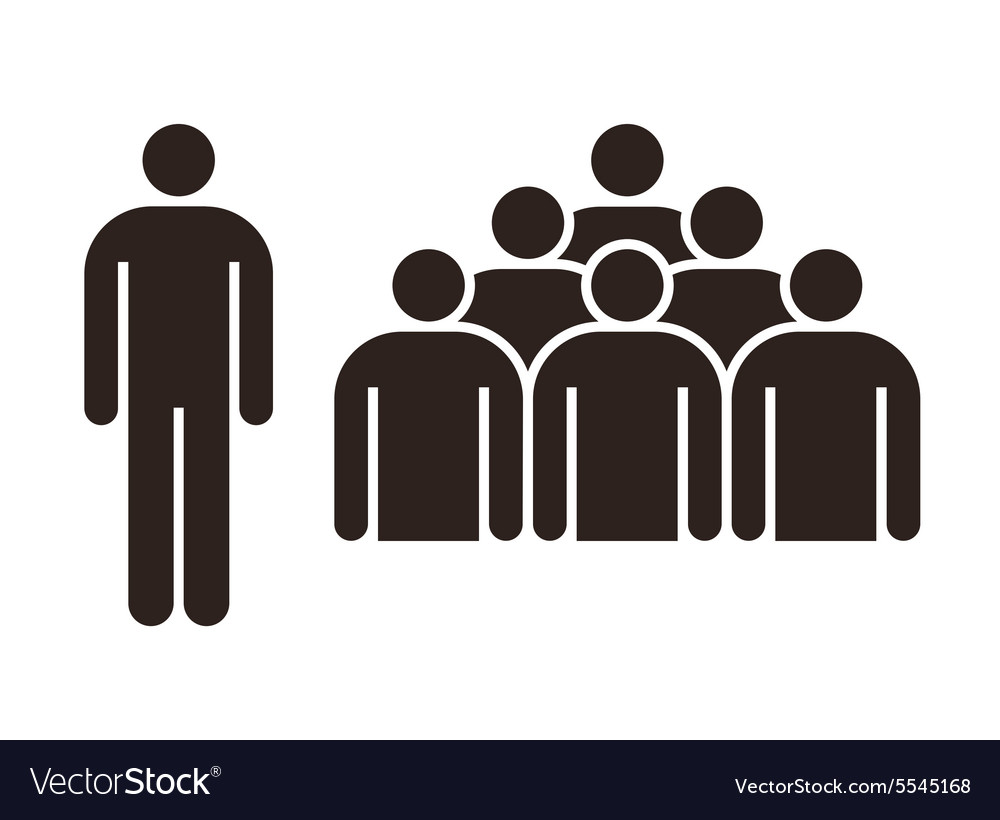 human figure and group of people royalty free vector image rh vectorstock com human vector silhouette human vector silhouette
