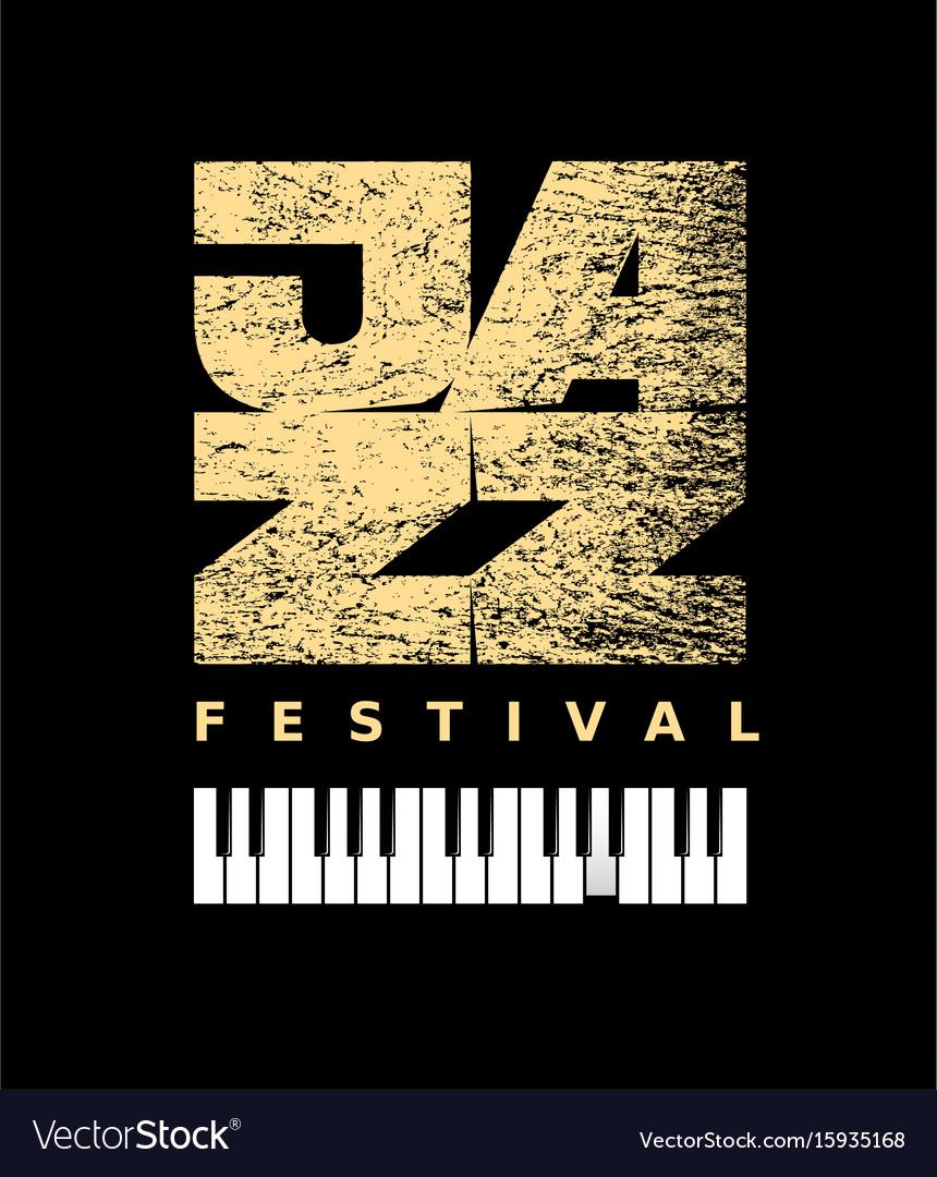 Jazz flyer on grunge background vector image