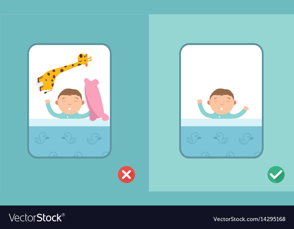 Right and wrong safe sleeping baby