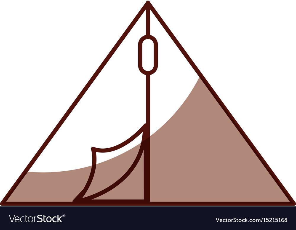 Shadow camping tent cartoon vector image