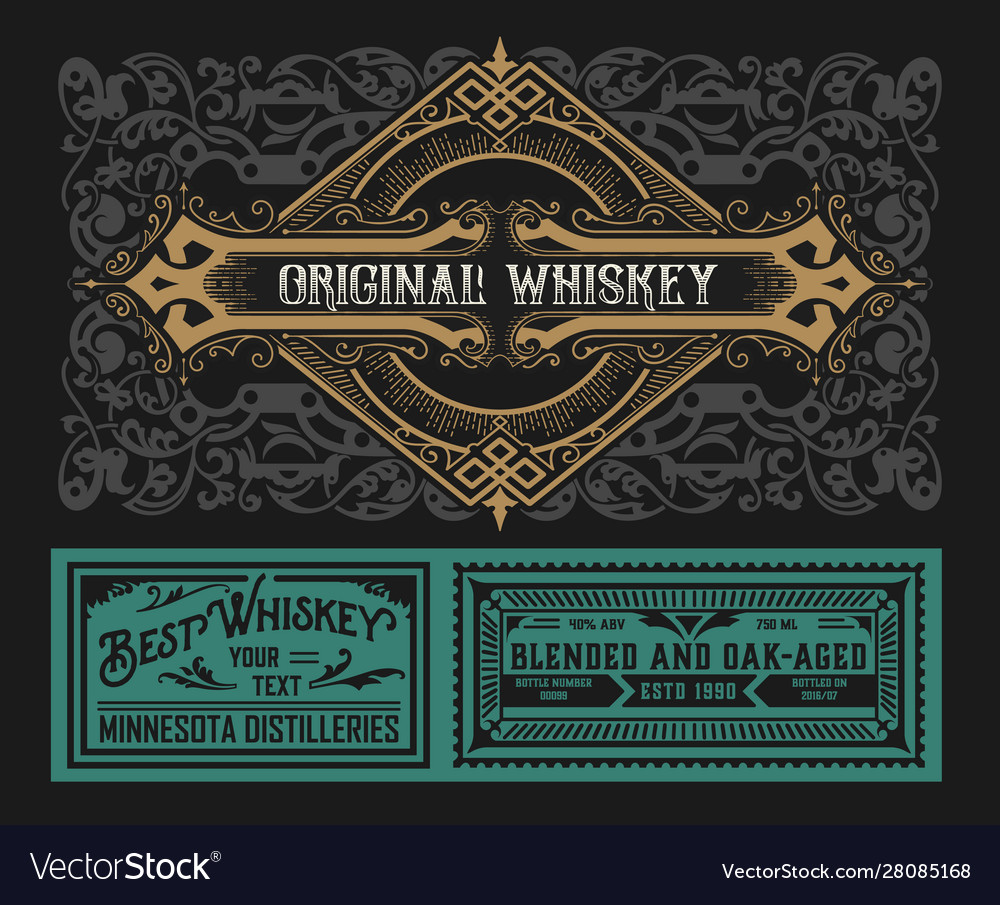 Western label for whiskey or other products