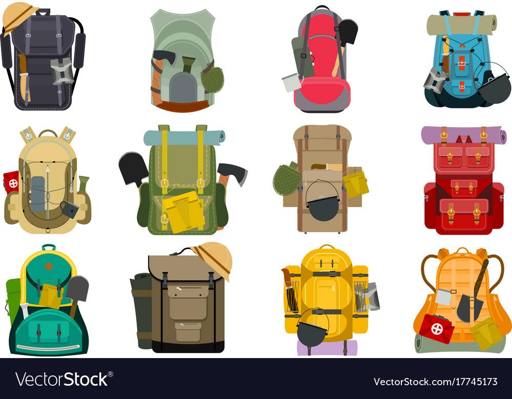25b201e27f Backpack rucksack travel tourist knapsack outdoor Vector Image