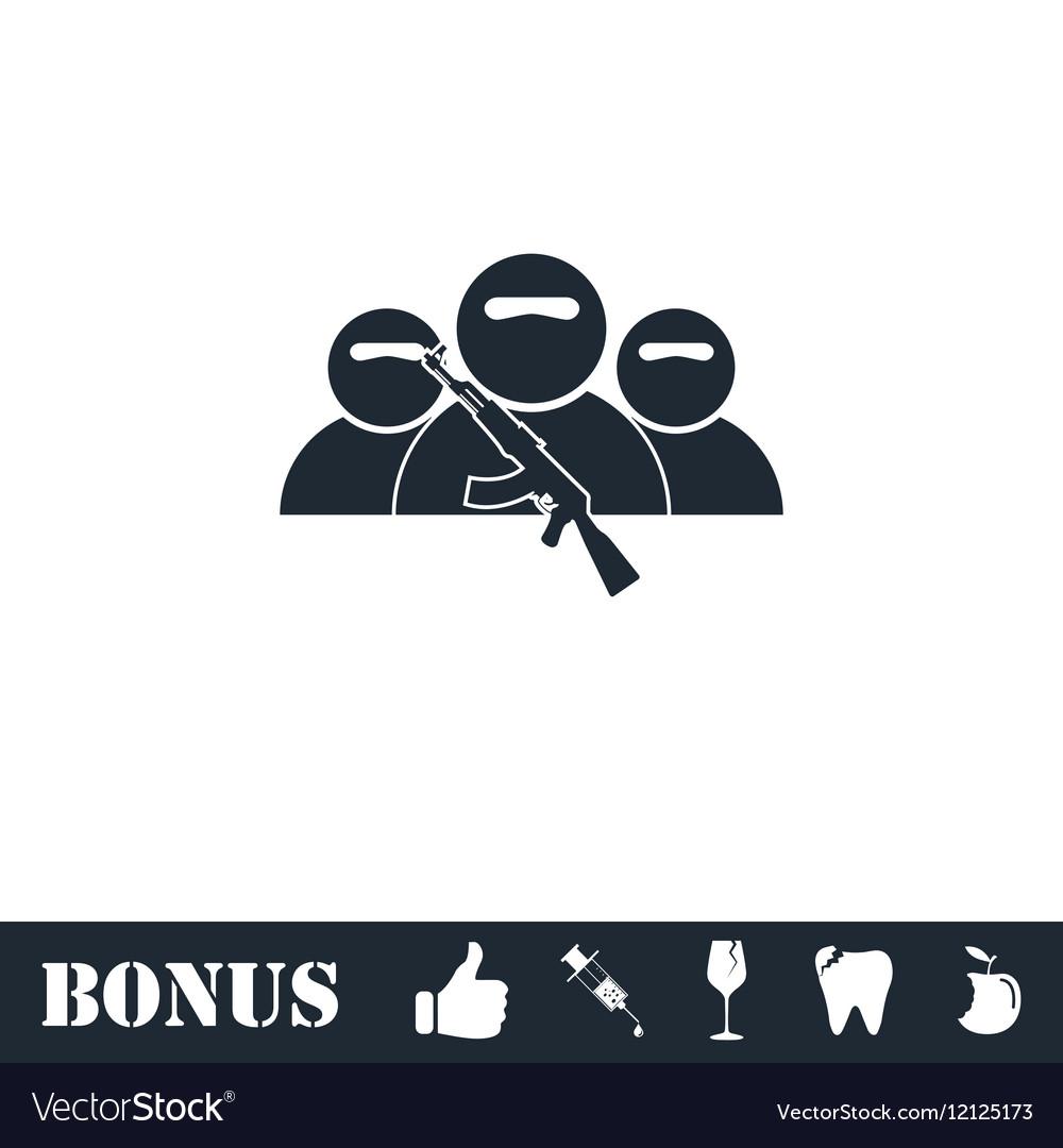 Bandit group icon flat