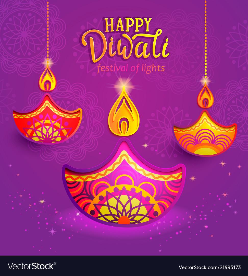 Banner for happy diwali