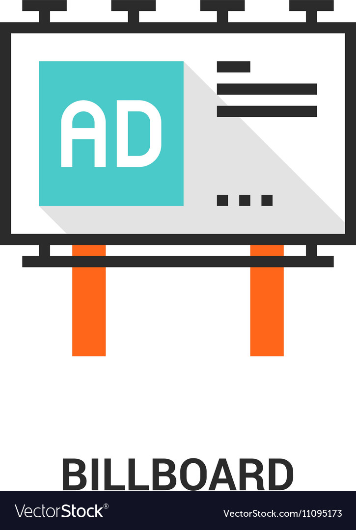 Billboard icon concept