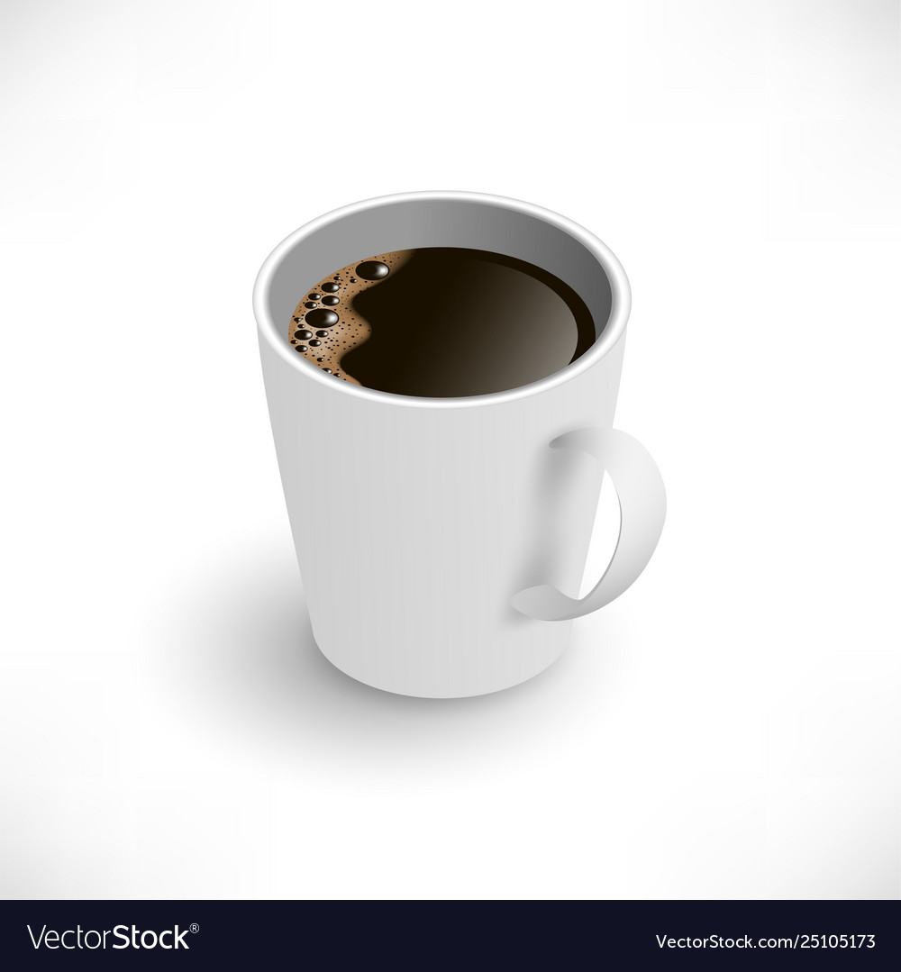 Black coffee cup isometric view