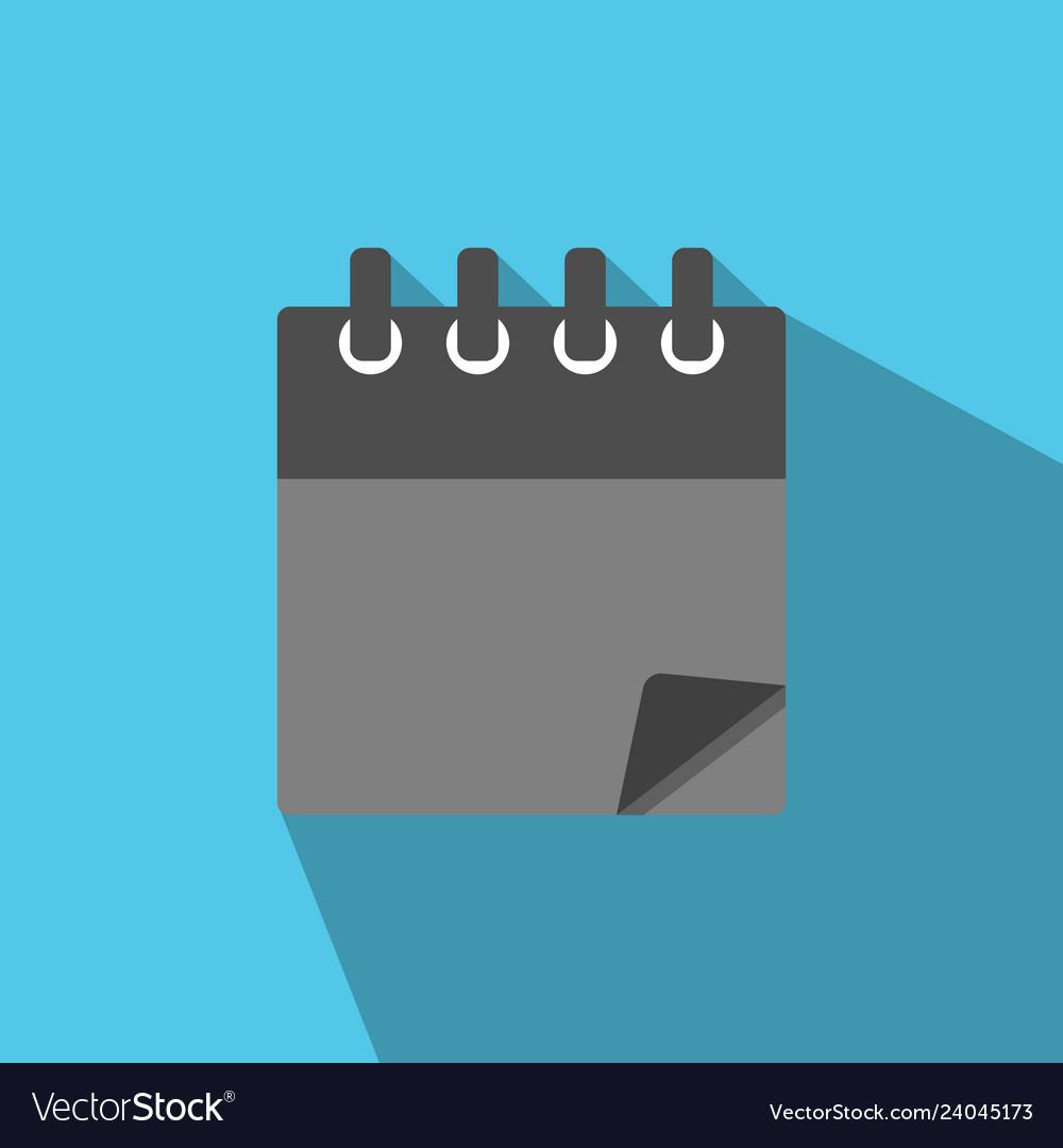Blank calendar icon in modern flat style
