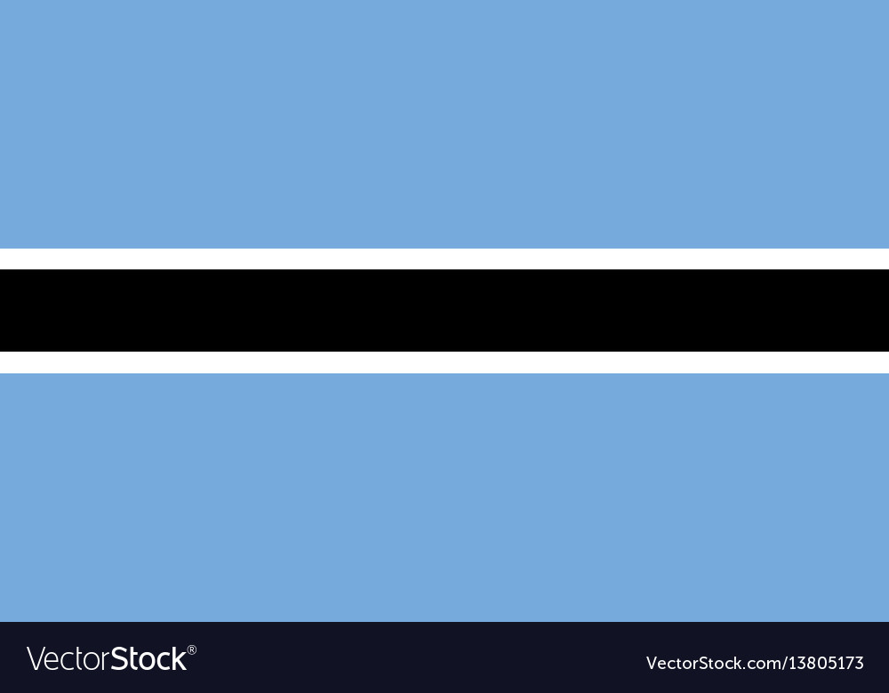 Botswana flag for independence day and vector image