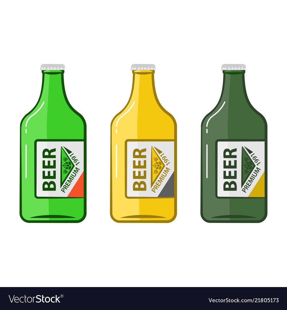 Cartoon bottle beers