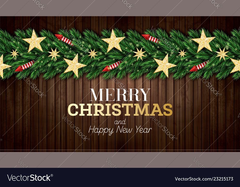 Christmas greeting card with christmas tree