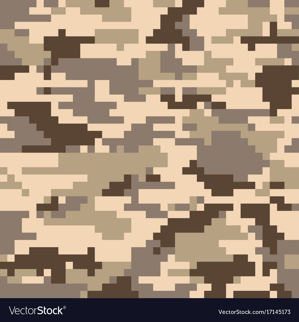 Digital pixel camouflage seamless pattern vector image