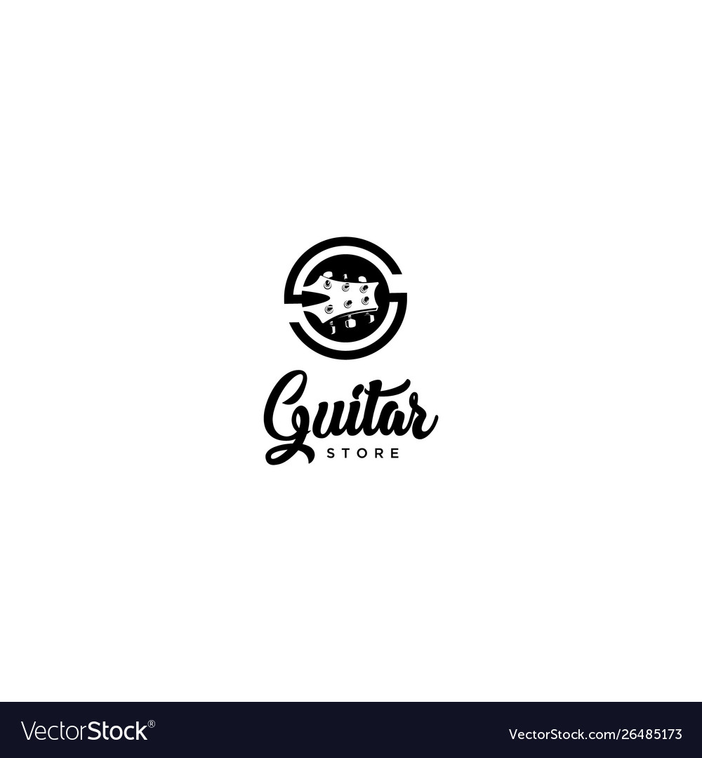 Guitar store logo