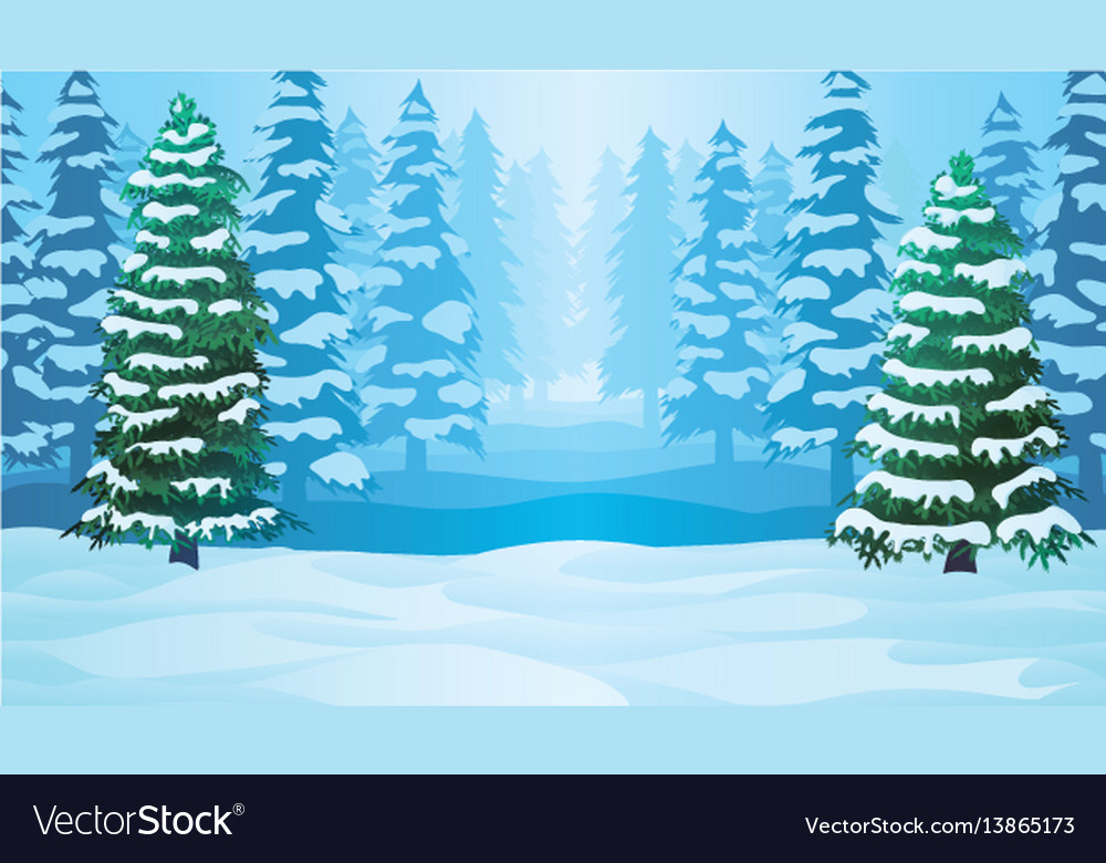 Horizontal seamless background with winter