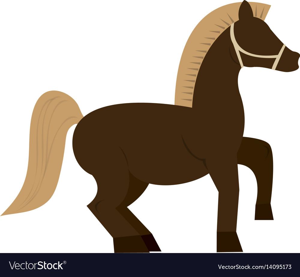 Horse cartoon icon
