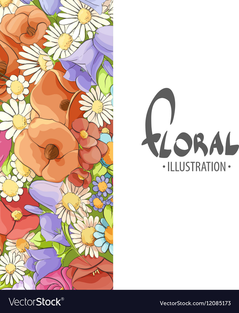 Inspiring flowers vector image