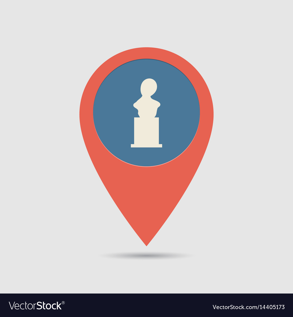 Map pin monuments