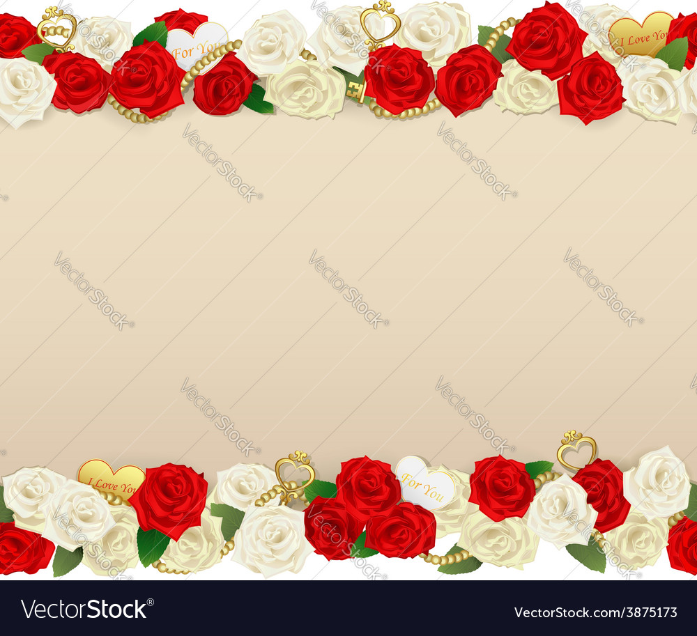 Romantic Flower Frame Royalty Free Vector Image