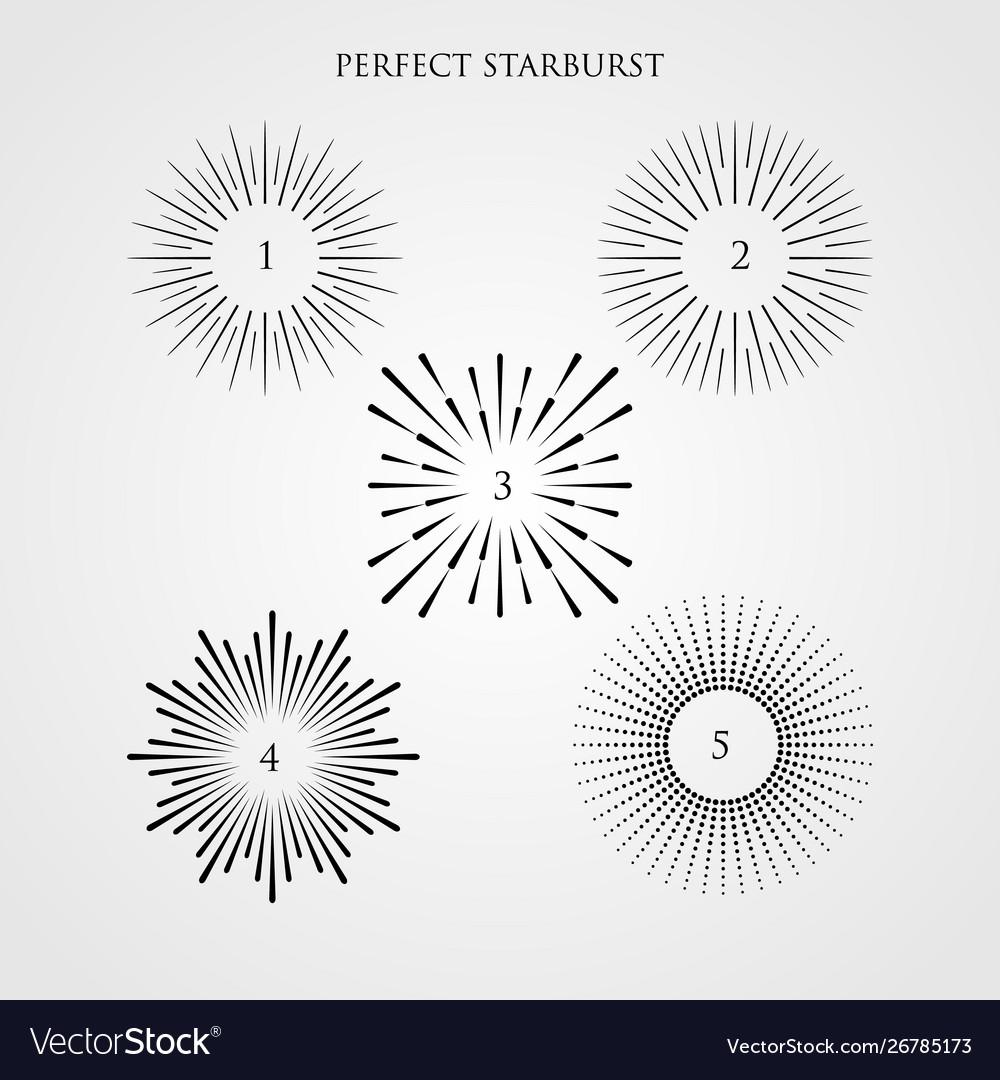 Set light rays sunburst and rays sun
