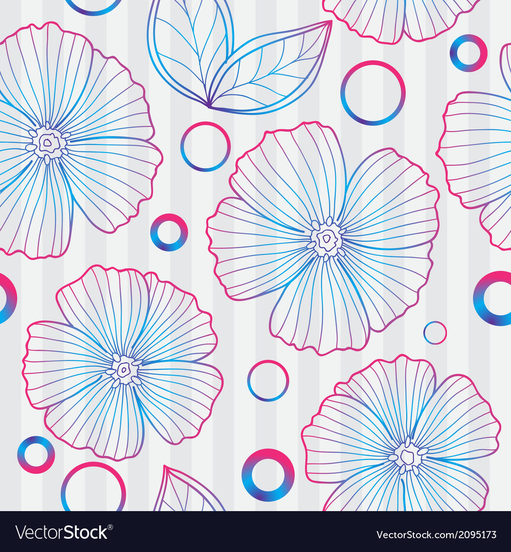 Spring purple floral seamless pattern