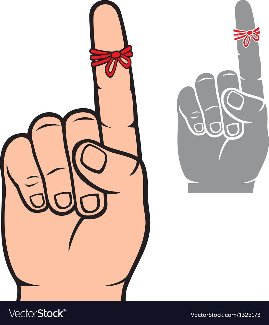 String around the finger reminder