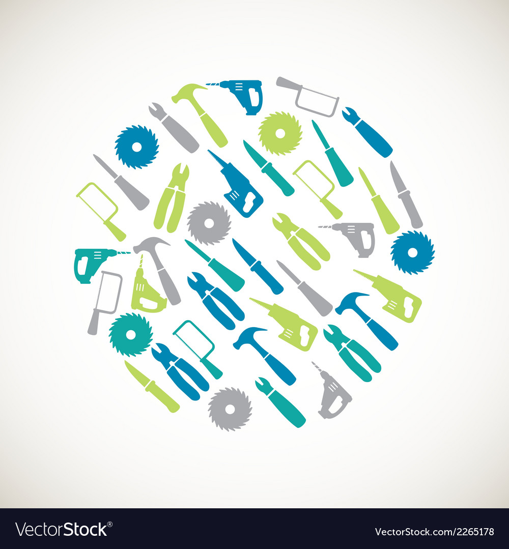 Colorful home repair icons vector image