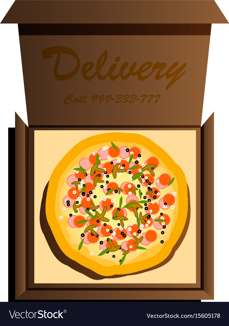 Delivery of the most delicious pizza in the world