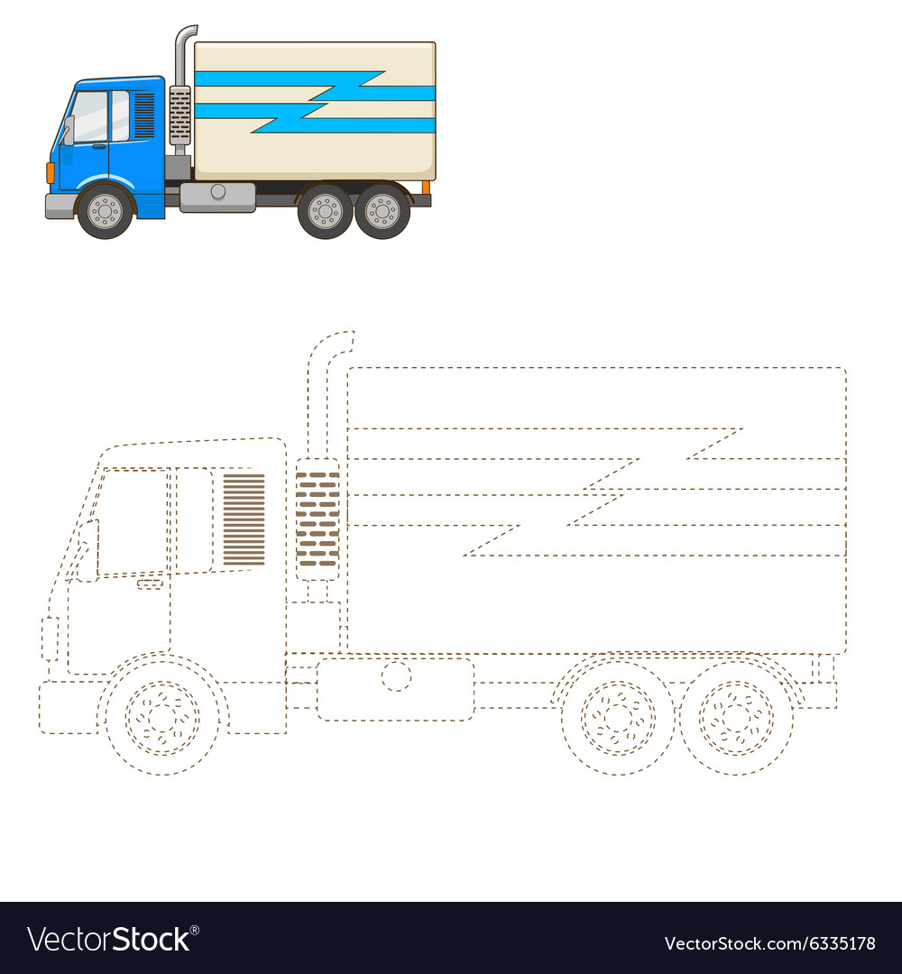 how do you draw a truck