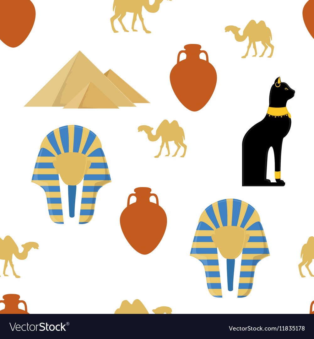 Egypt seamless pattern