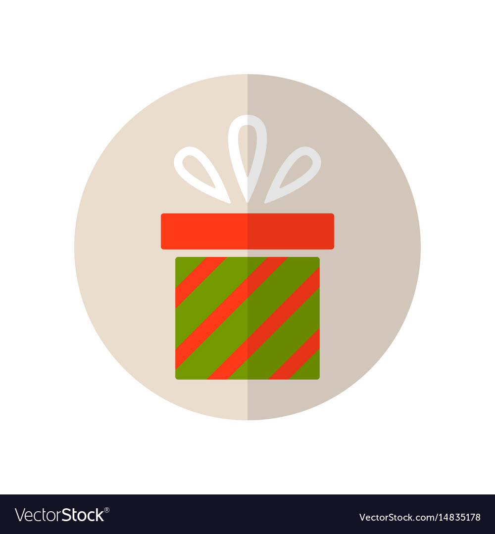 Gift box surprise for holiday flat color icon