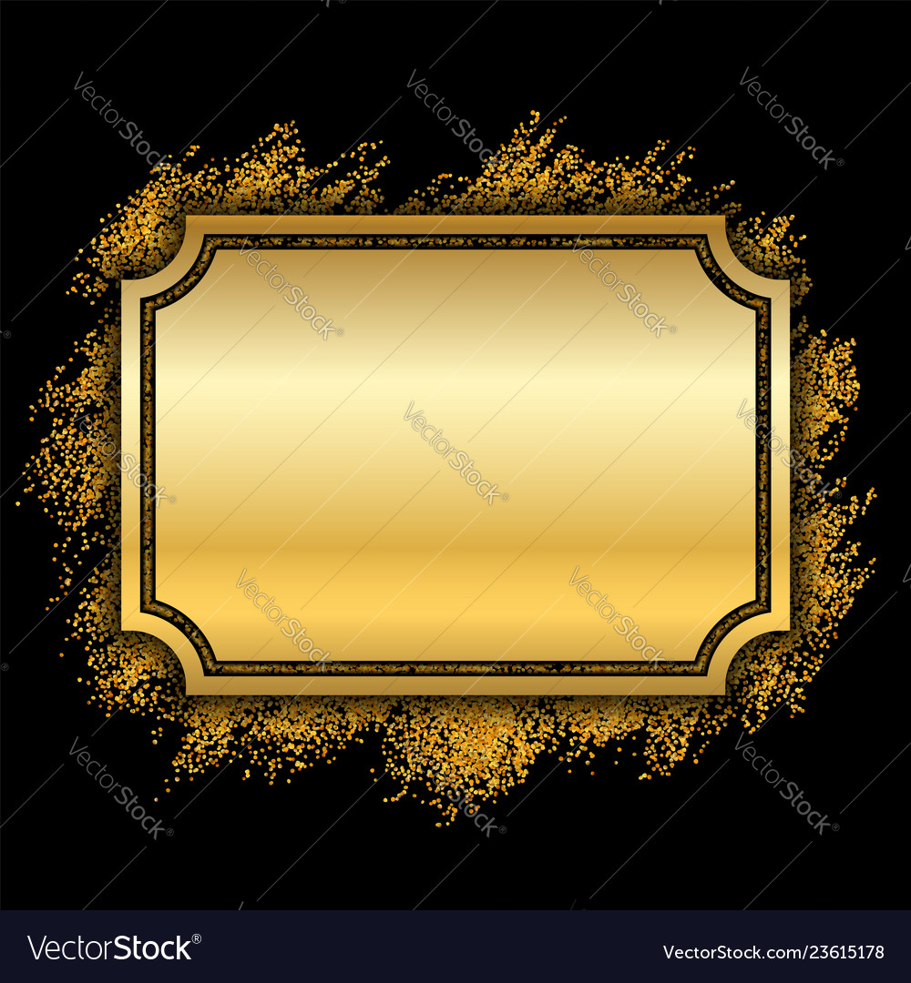 b31cd04df74f Gold frame beautiful golden glitter design Vector Image