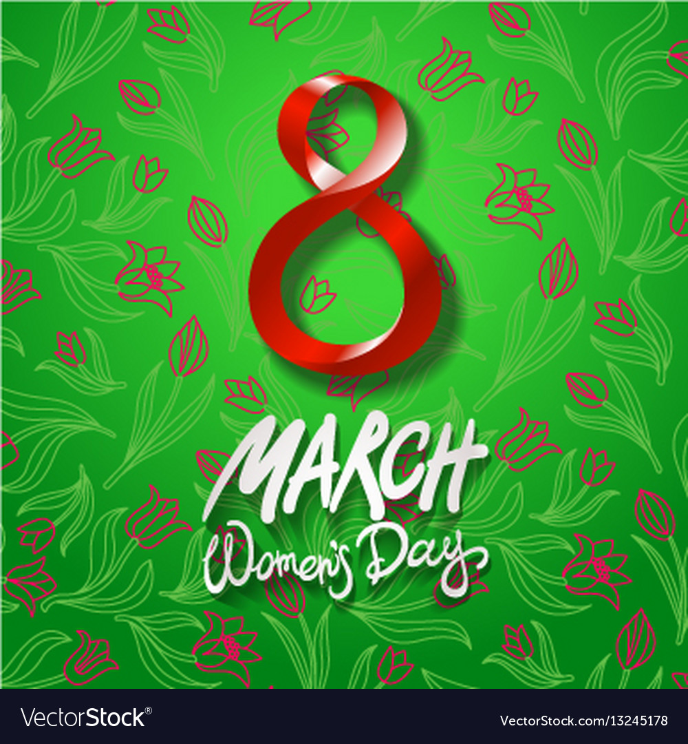 March 8 greeting card international womans day