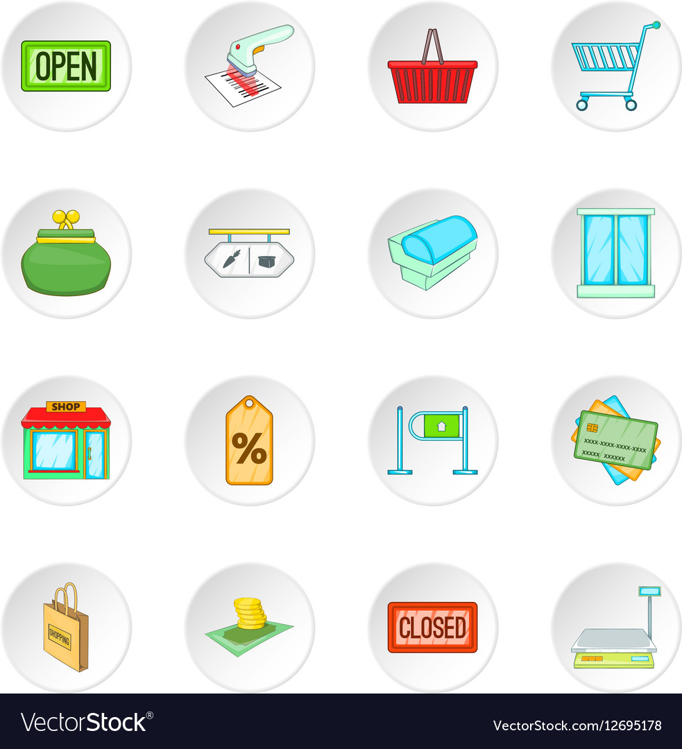 Retail icons set vector image