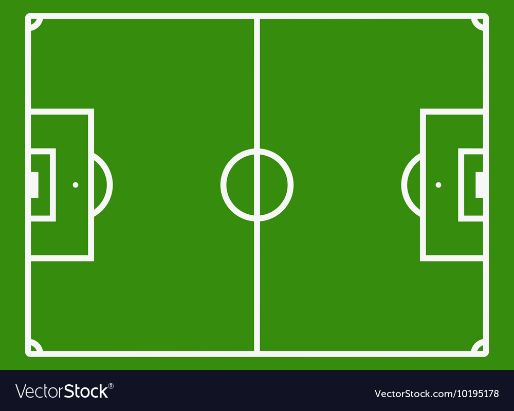 Soccer Field Or Football Pitch Royalty Free Vector Image