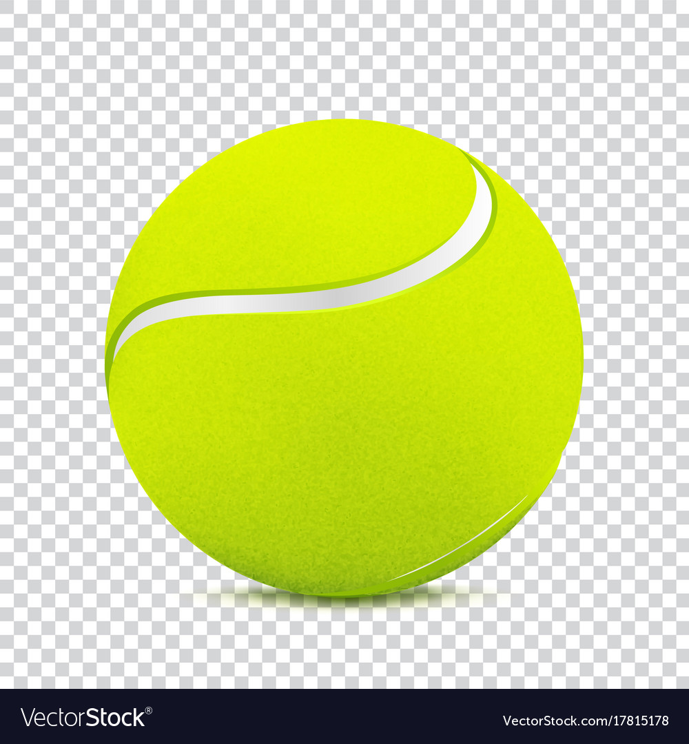 Tennis Ball On Transparent Background Royalty Free Vector